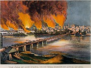The Fall of Richmond, Virginia on the Night of April 2nd, 1865
