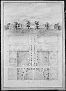University of North Carolina, Chapel Hill (distant perspective and plan of grounds)