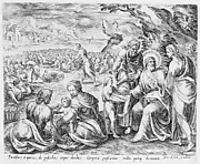 Nimrod deciding where to build the tower, from The Tower of Babel, bound in Thesaurus Sacrarum historiarum Veteris et Novi Testamenti, plate 1