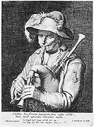Man Playing Bagpipe