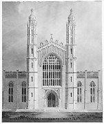 Library and Chapel, University of Michigan, Ann Arbor (front elevation)