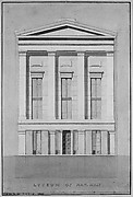 Lyceum of Natural History, New York (front elevation)