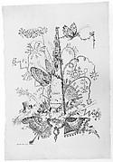 Title page from Essai de Papilloneries Humaines par Saint Aubin