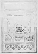 Design for a Dining-room Ceiling at Kelmarsh Hall, Northamptonshire