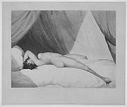 Nude Reclining on Curtained Bed [Emma Hamilton (?)]