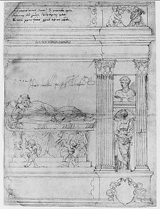 Design for the Right-hand Section of the Tomb of Cardinal Francesco Armellini