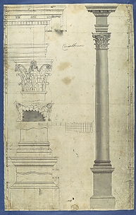 The General Proportions of the Corinthian Order, in Chippendale Drawings, Vol. I