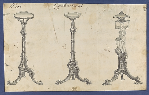 Candle Stands, in Chippendale Drawings, Vol. I