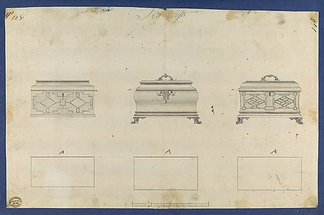 Tea Chests, in Chippendale Drawings, Vol. I