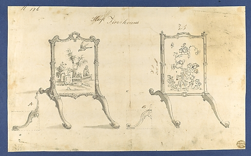 Horse Fire Screens, in Chippendale Drawings, Vol. I