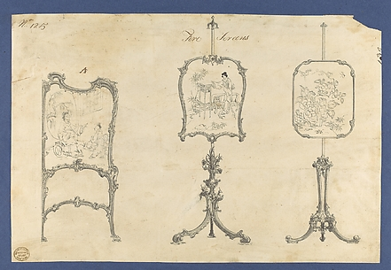Fire Screens, in Chippendale Drawings, Vol. I