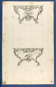 Sideboard Tables, in Chippendale Drawings, Vol. I