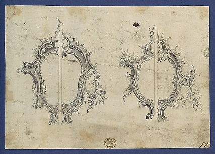 Shields for Pediments, in Chippendale Drawings, Vol. I