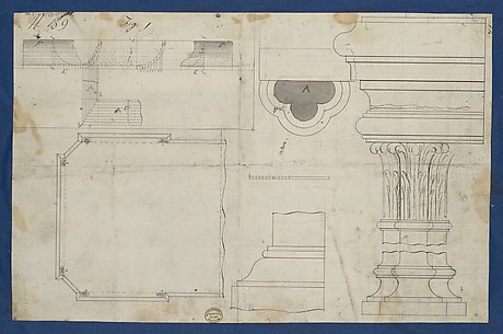 Plan for Library Table with Moldings, from Chippendale Drawings, Vol. II