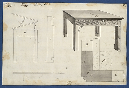 Writing Table, from Chippendale Drawings, Vol. II