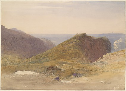 On the North Coast of Devon, Lundy Island in the Distance