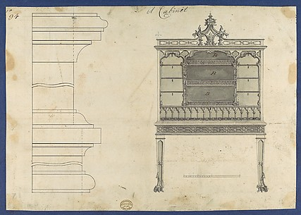 Cabinet, from Chippendale Drawings, Vol. II
