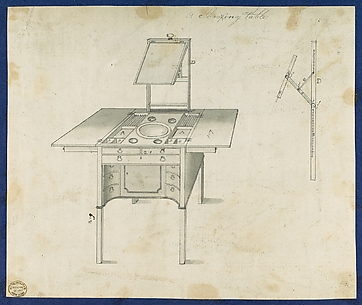Shaving Table, from Chippendale Drawings, Vol. II