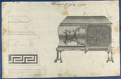 Two Designs for Clothes Chest, from Chippendale Drawings, Vol. II