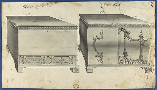 Clothes Chest and Clothes Press, from Chippendale Drawings, Vol. II