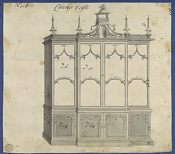 China Case, from Chippendale Drawings, Vol. II