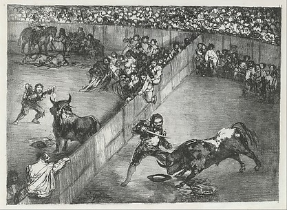 Bullfight in a Divided Ring, from the Bulls of Bordeaux