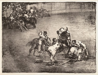 Picador Caught by a Bull (Bravo toro), from the