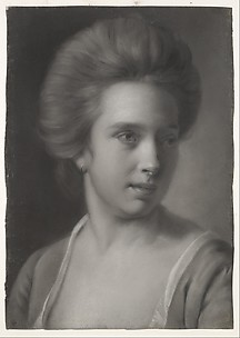 Portrait of a Woman, Her Head Turned to the Right, Wearing an Earring