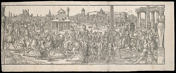 Procession of Sultan Süleyman through the Atmeidan from the frieze Ces Moeurs et fachons de faire de Turcz (Customs and Fashions of the Turks)