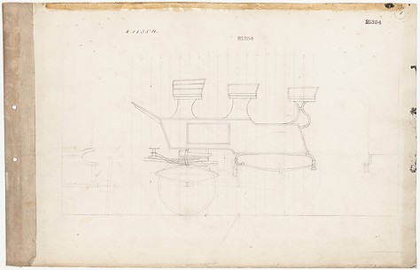 Working Drawings for Roof Seat Drag Break, no. 21354