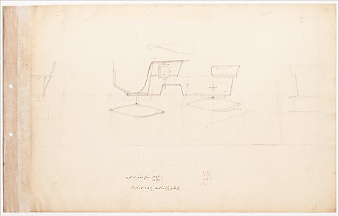 Working Drawing for T-Cart Phaeton No. 3295