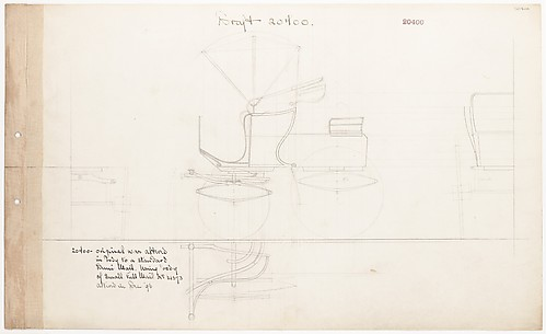 Working drawing for Demi-Mail Phaeton, no. 20400