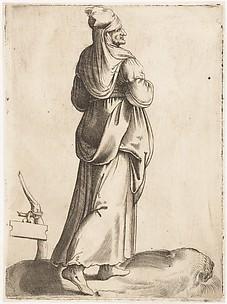 Costume Plate: Peasant Woman from Spain
