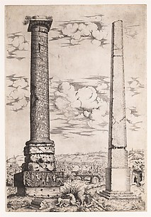 Column of Antoninus and a Roman Obelisk