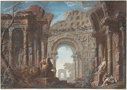 Architectural Capriccio with a Monumental Arch
