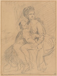 Study of a Woman and Child