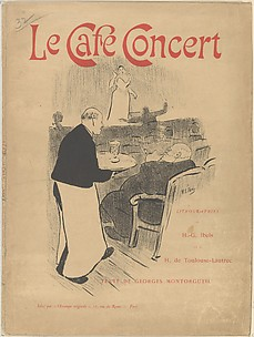Cover and Title of the portfolio: Le Caf Concert ; Lithographies de H.-G Ibels et de H. de Toulouse-Lautrec; Texte de Georges Montorgueil