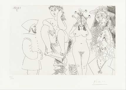 Two Women with an Owl, Don Quixote and a Conquistador, from 347 Suite