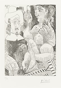 Woman with her Mirror and Man in a Rembrandtesque Hat, from 347 Suite