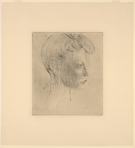 Head of a Woman, in Profile