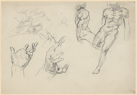 Studies of Hands and Figures for the 'Salon du roi'