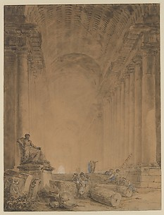 Figures in a Colonnade