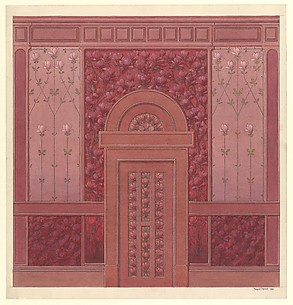 Design for Wall Elevation with Magnolias