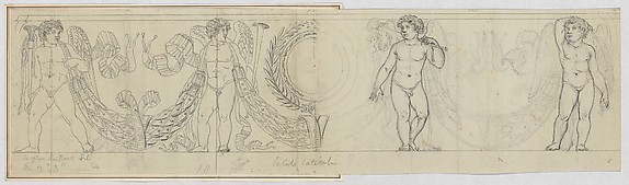 Design for a Frieze with Putti and Garland