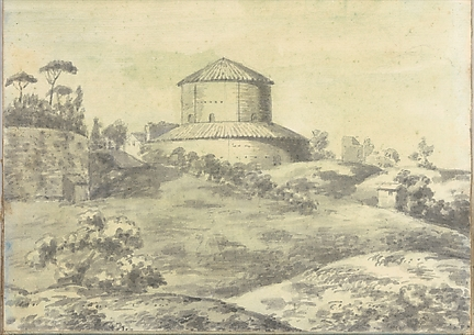 Landscape with Granary (?) (Smaller Italian Sketchbook, leaf 4 recto)