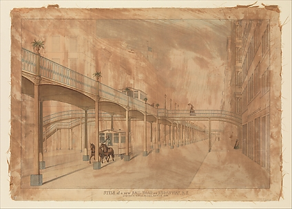Elevated Railroad, Broadway, New York