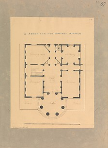 House for Henry Whitney, New Haven, Connecticut (plan)