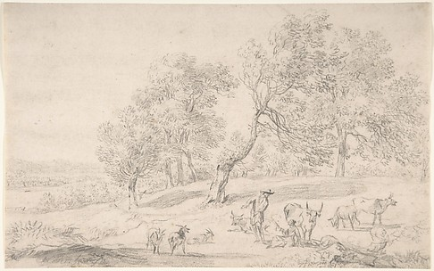 Cattle and Figures in a Landscape