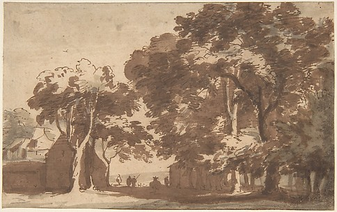 Farm Buildings Under Trees (Rÿswÿk)