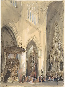 Interior of the Church of St. Jacques, Louvain